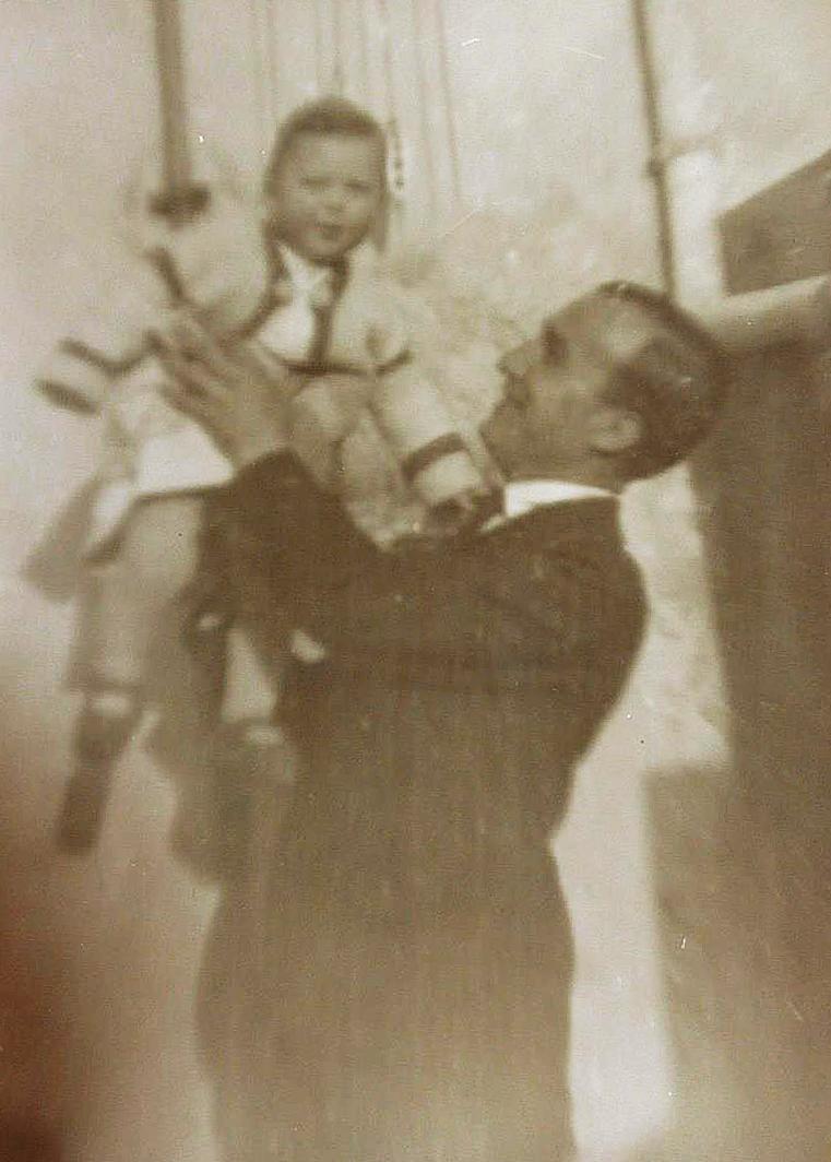 1930, Marcello Martini con il padre Mario