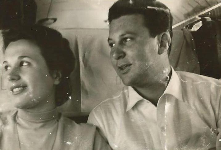 1954, Marcello Martini con Mariella la compagna di tutta la vita
