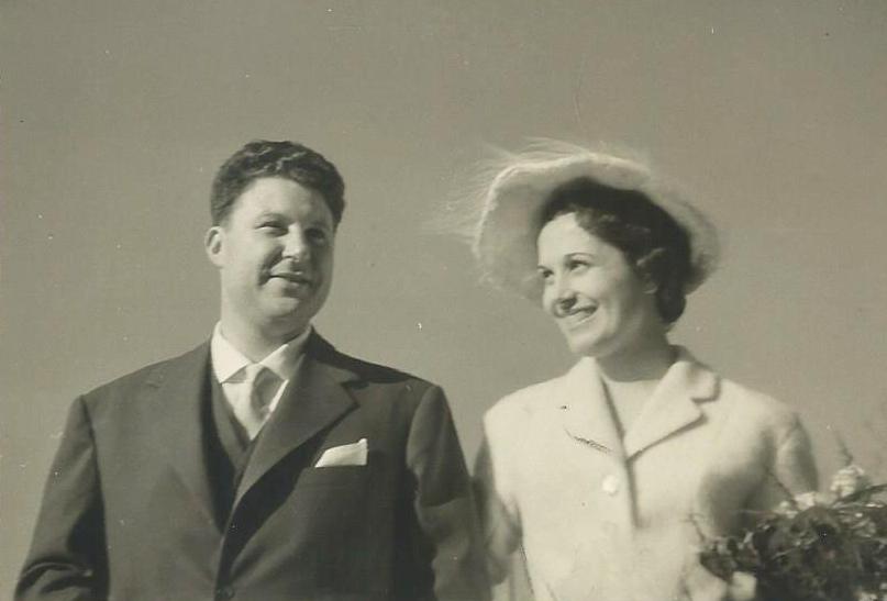 1956, Matrimonio di Marcello e Mariella