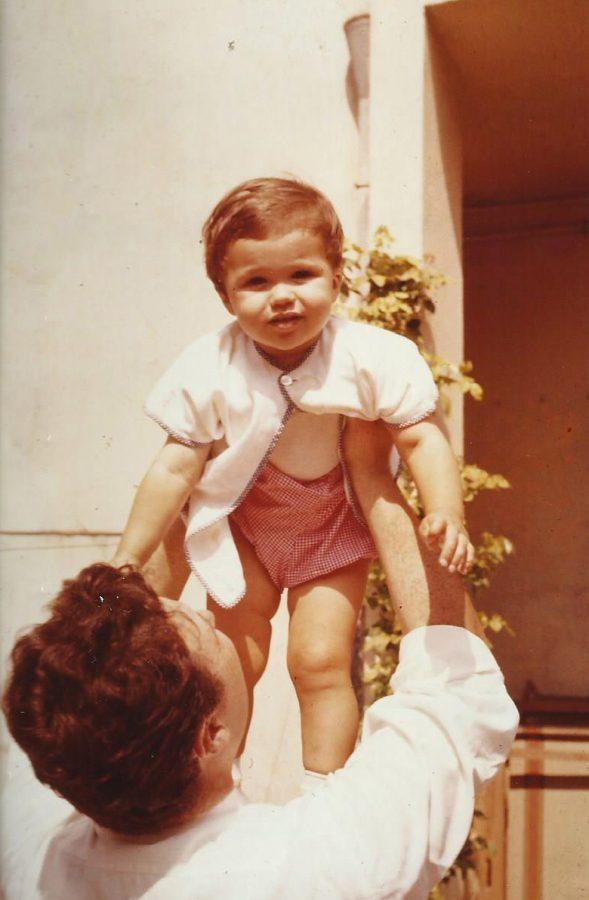 1960, Marcello con la figlia Alessandra