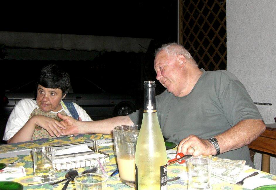 Marcello con la figlia Laura