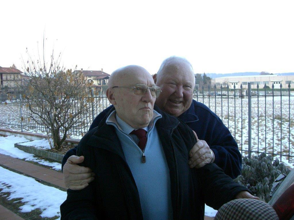 Marcello con l'amico Pino Bozzano